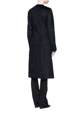 Back View - Click To Enlarge - Esteban Cortazar - Trigger hook fastening double face cashmere coat