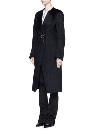 Figure View - Click To Enlarge - Esteban Cortazar - Trigger hook fastening double face cashmere coat