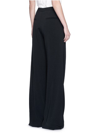 Back View - Click To Enlarge - Roksanda - 'Larchmont' pintuck front wide leg pants