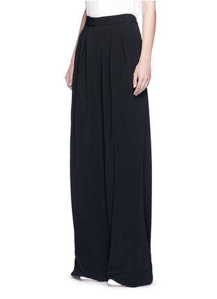 Front View - Click To Enlarge - Roksanda - 'Larchmont' pintuck front wide leg pants