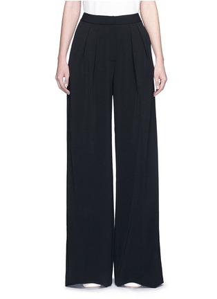 Main View - Click To Enlarge - Roksanda - 'Larchmont' pintuck front wide leg pants