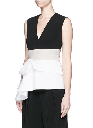Front View - Click To Enlarge - Roksanda - 'Renae' colourblock peplum top