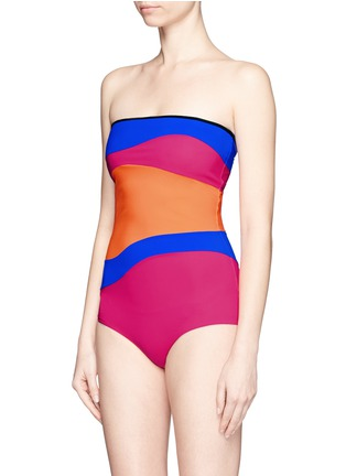 Detail View - Click To Enlarge - Roksanda - 'Emory' wave colourblock one-piece swimsuit