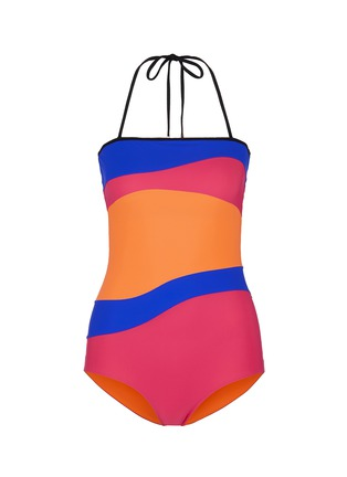 Main View - Click To Enlarge - Roksanda - 'Emory' wave colourblock one-piece swimsuit