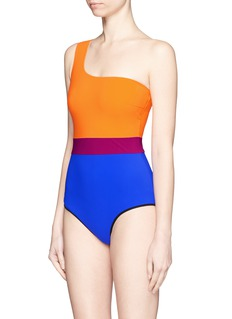 ROKSANDA'Metis' colourblock one-shoulder swimsuit