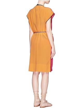 Back View - Click To Enlarge - Roksanda - 'Zavi' colourblock silk wrap tunic