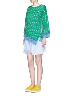 PORTS 1961Diagonal stripe virgin wool sweater