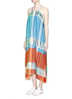 PORTS 1961Fringe jacquard knit halterneck dress