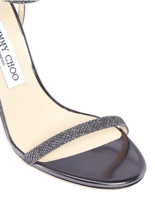Detail View - Click To Enlarge - Jimmy Choo - 'Minny 100' lamé glitter sandals
