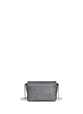 Back View - Click To Enlarge - Jimmy Choo - 'Ruby L' glitter lamé crossbody bag