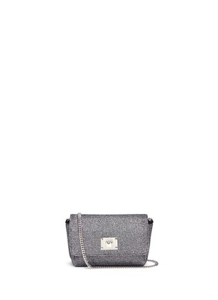 Main View - Click To Enlarge - Jimmy Choo - 'Ruby L' glitter lamé crossbody bag