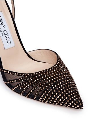 Detail View - Click To Enlarge - Jimmy Choo - 'Kizzy' stud suede d'Orsay pumps