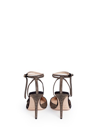 Back View - Click To Enlarge - Jimmy Choo - 'Kizzy' stud suede d'Orsay pumps