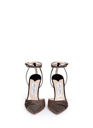 Front View - Click To Enlarge - Jimmy Choo - 'Kizzy' stud suede d'Orsay pumps