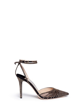 Main View - Click To Enlarge - Jimmy Choo - 'Kizzy' stud suede d'Orsay pumps
