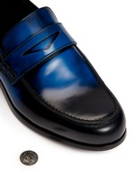 'Darblay' leather penny loafers
