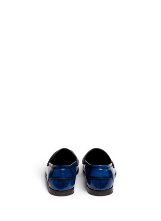 Back View - Click To Enlarge - Jimmy Choo - 'Darblay' leather penny loafers