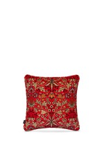 Hyacinth large cotton velvet cushion