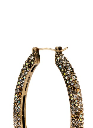 Detail View - Click To Enlarge - J.CREW - Oval pavé hoop earrings
