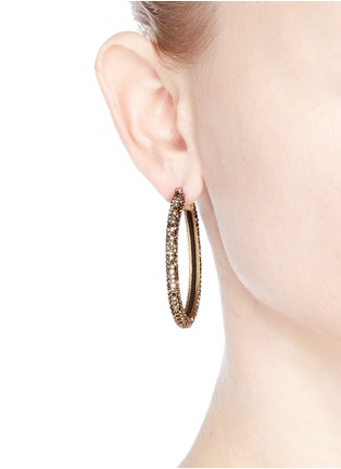 Figure View - Click To Enlarge - J.CREW - Oval pavé hoop earrings
