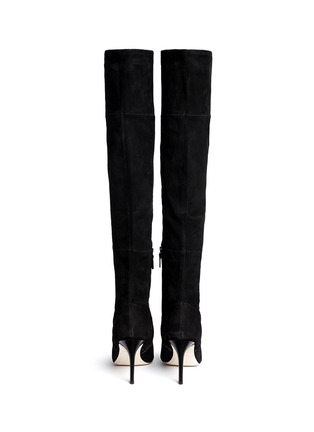 Back View - Click To Enlarge - Cole Haan - 'Marina' suede thigh high boots