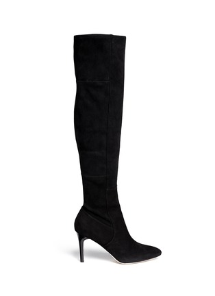 Main View - Click To Enlarge - Cole Haan - 'Marina' suede thigh high boots