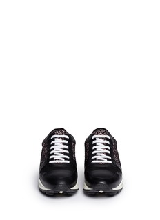 OPENING CEREMONYGraphic print leather trim wedge sneakers