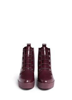 OPENING CEREMONY'Grunge' lace-up leather platform ankle boots