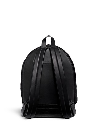 Back View - Click To Enlarge - Alexander Wang  - 'Bookbag' kangaroo fur croc effect leather backpack