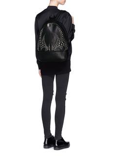 ALEXANDER WANG 'Bookbag' stud pebbled leather backpack