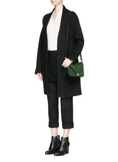 ALEXANDER WANG 'Prisma' small croc embossed leather envelope sling bag