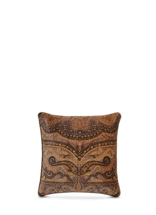 Main View - Click To Enlarge - Etro - Leicester Anstey paisley print velvet cushion