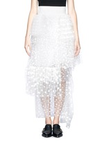CHLOÉPolka-dot mesh tiered skirt