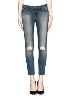 J BRANDCapri distressed skinny jeans