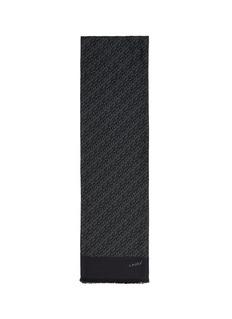LANVINChevron print silk scarf