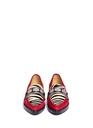 TOGA ARCHIVES - Zebra print pony hair suede loafers