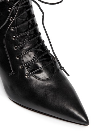 Detail View - Click To Enlarge - Giuseppe Zanotti Design - 'Lucrezia' lace-up ankle boots