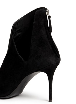 Detail View - Click To Enlarge - Giuseppe Zanotti Design - 'Lucrezia' cutout suede ankle boots