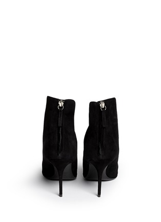 Back View - Click To Enlarge - Giuseppe Zanotti Design - 'Lucrezia' cutout suede ankle boots