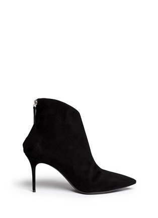 Main View - Click To Enlarge - Giuseppe Zanotti Design - 'Lucrezia' cutout suede ankle boots