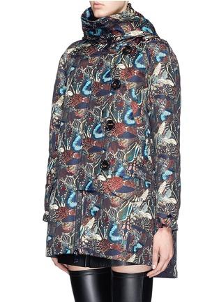 Moncler-'Drew' forest floral jacquard parka down jacket