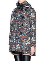 'Drew' forest floral jacquard parka down jacket