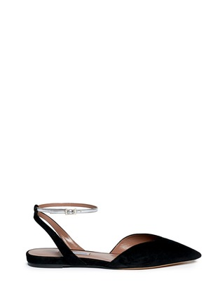 Main View - Click To Enlarge - TABITHA SIMMONS - Vera' V-throat suede d'Orsay flats