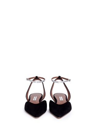 Figure View - Click To Enlarge - TABITHA SIMMONS - Vera' V-throat suede d'Orsay flats