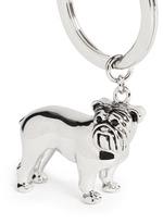 Bulldog metal key ring