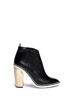 NICHOLAS KIRKWOODSculpted heel leather ankle boots