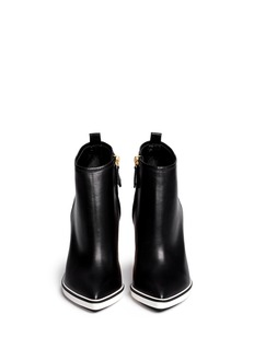 NICHOLAS KIRKWOOD Sculpted heel leather ankle boots