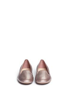 COLE HAANMorgan metallic leather slip-ons