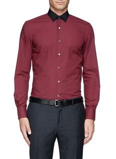 LANVINContrast collar check shirt