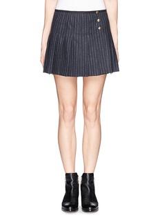 SEE BY CHLOÉVirgin wool chalkstripe pleat skirt